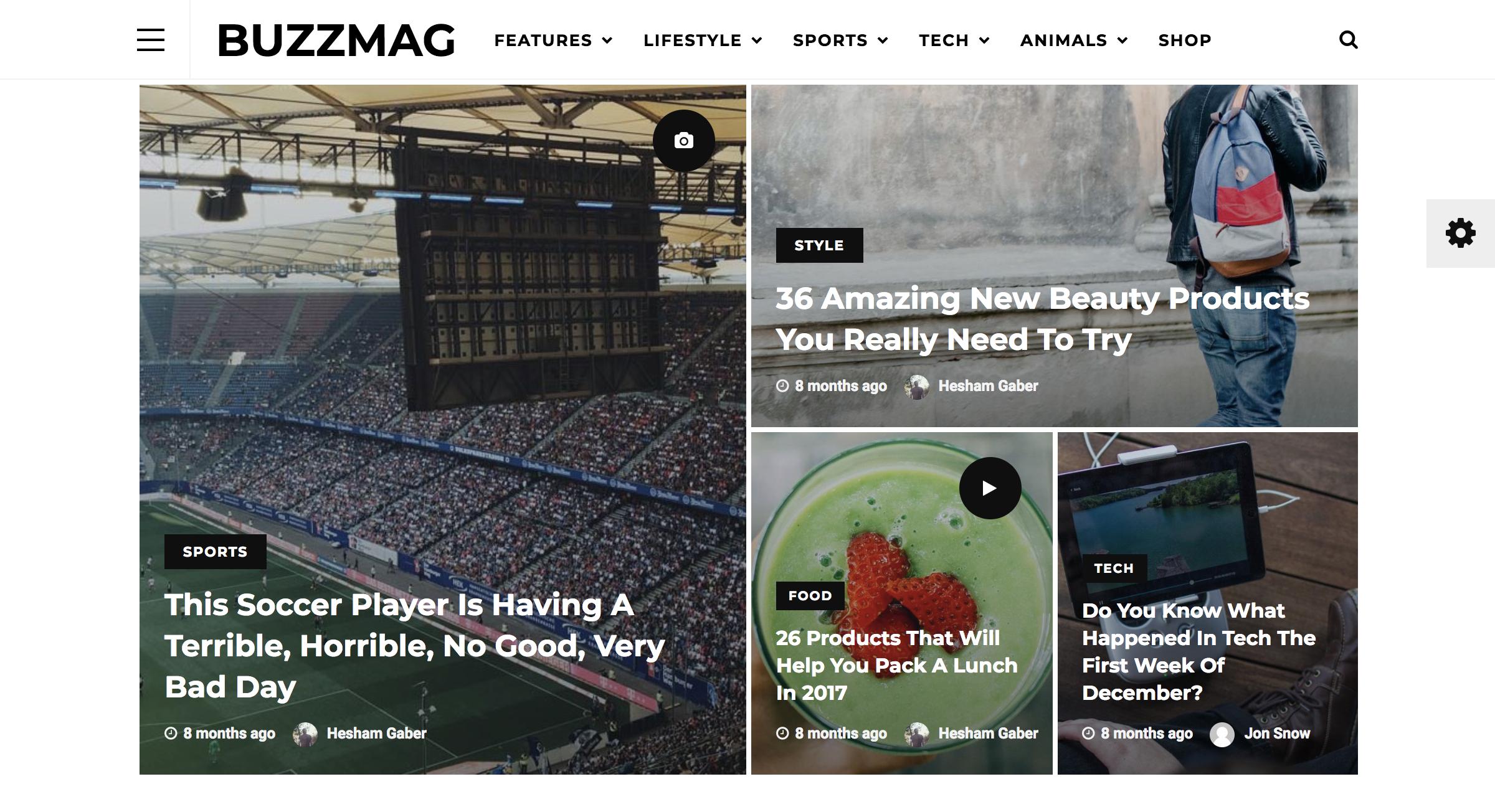 BuzzMag - Viral News WordPress Magazine Blog Theme