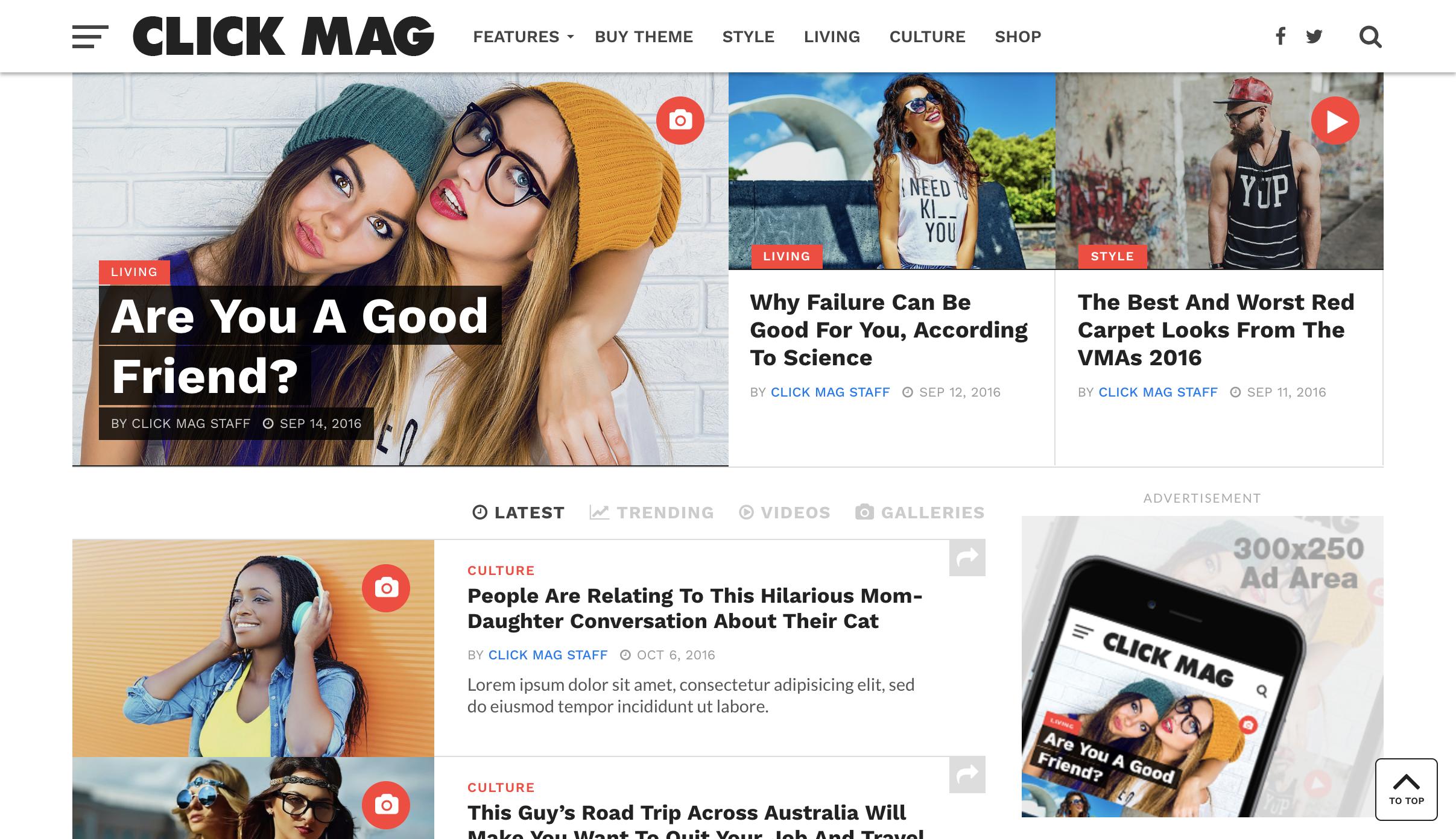 Click Mag - Viral WordPress News Magazine Blog Theme