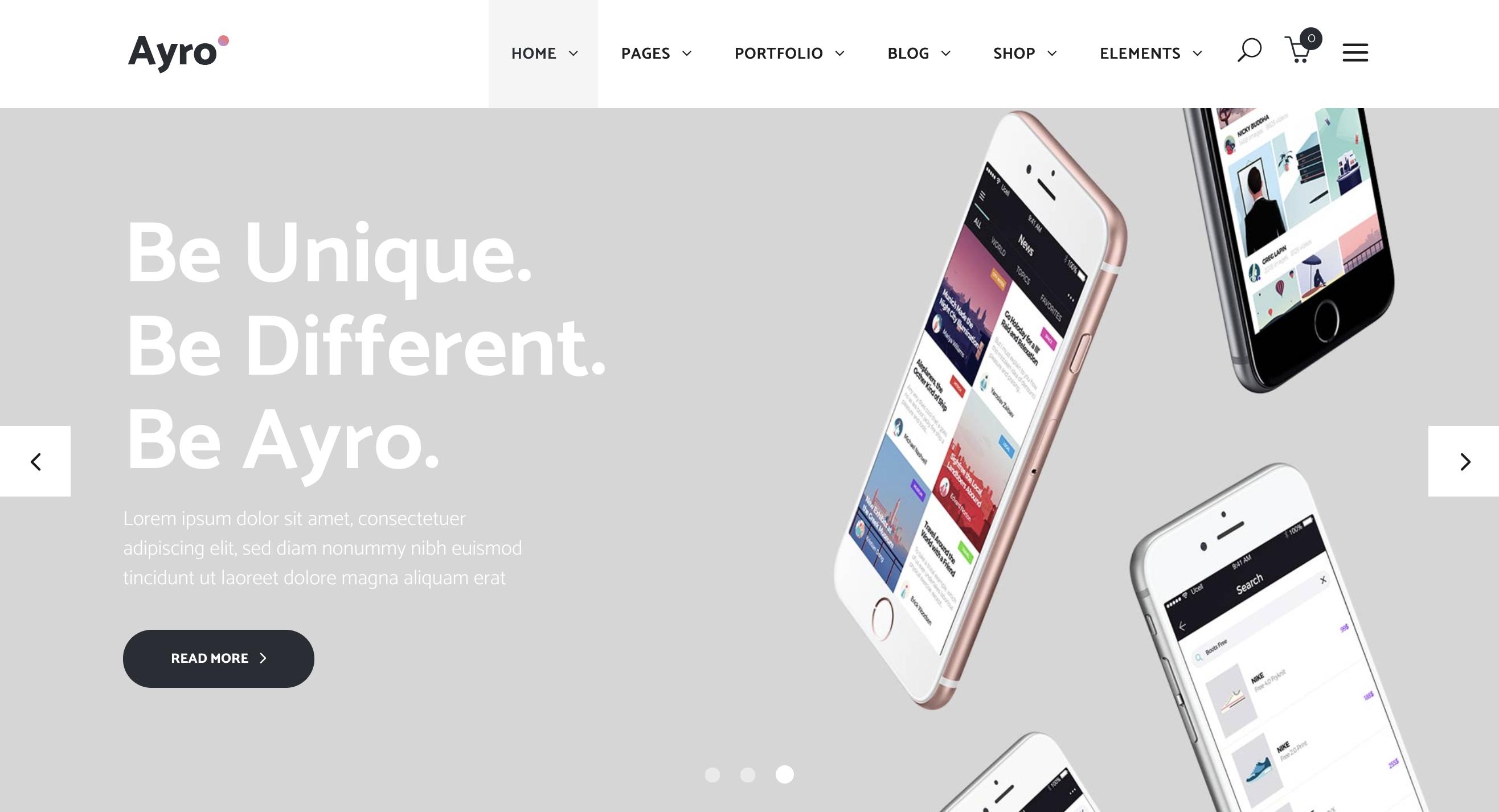 App Home – Ayro app landing page wordpress theme.png
