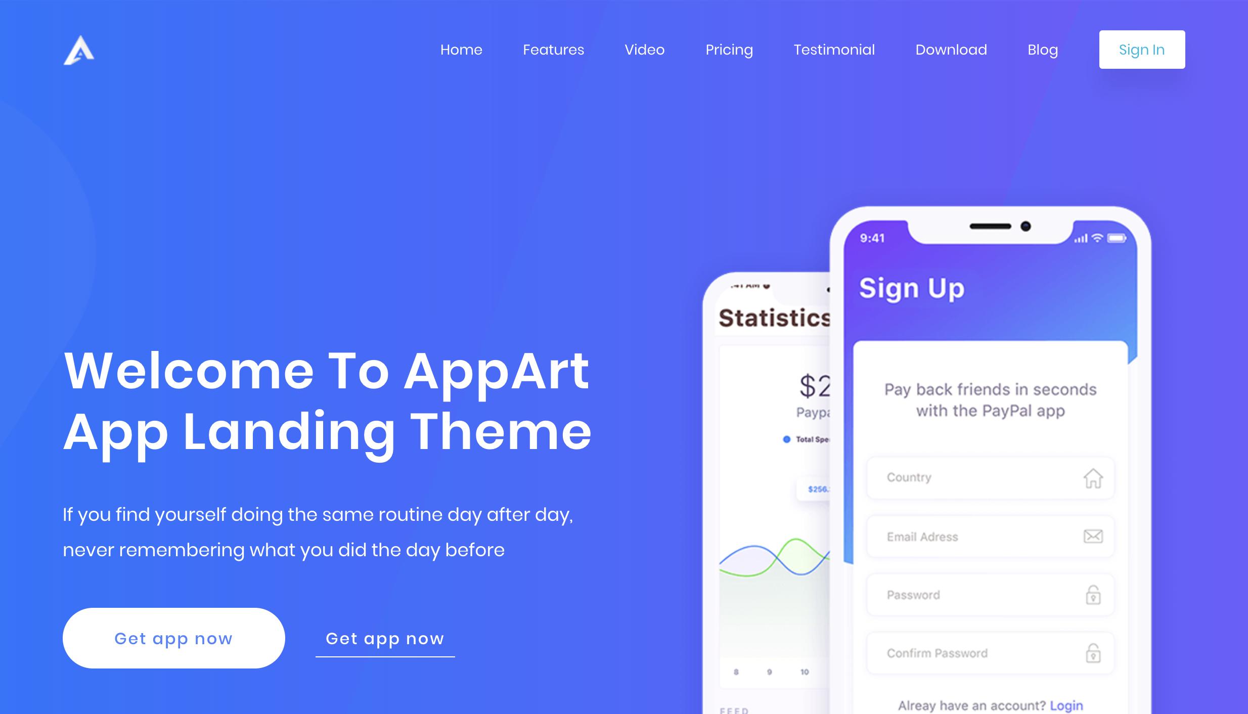 Appart Demo Two – App Landing WordPress Theme.png