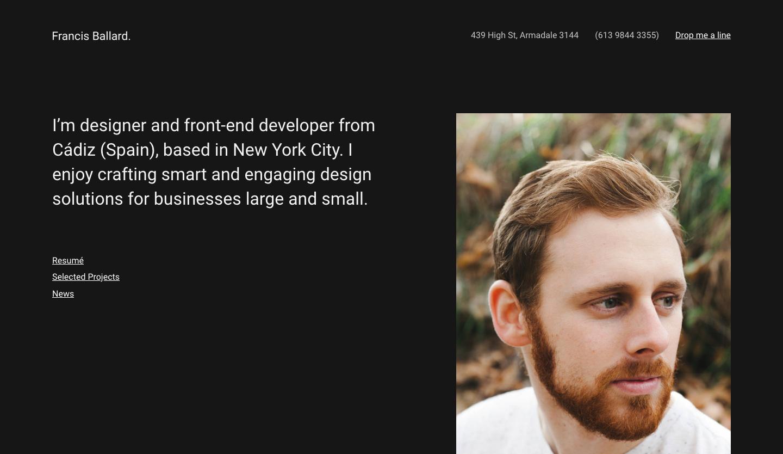 Ballard Responsive CV WordPress Theme.png