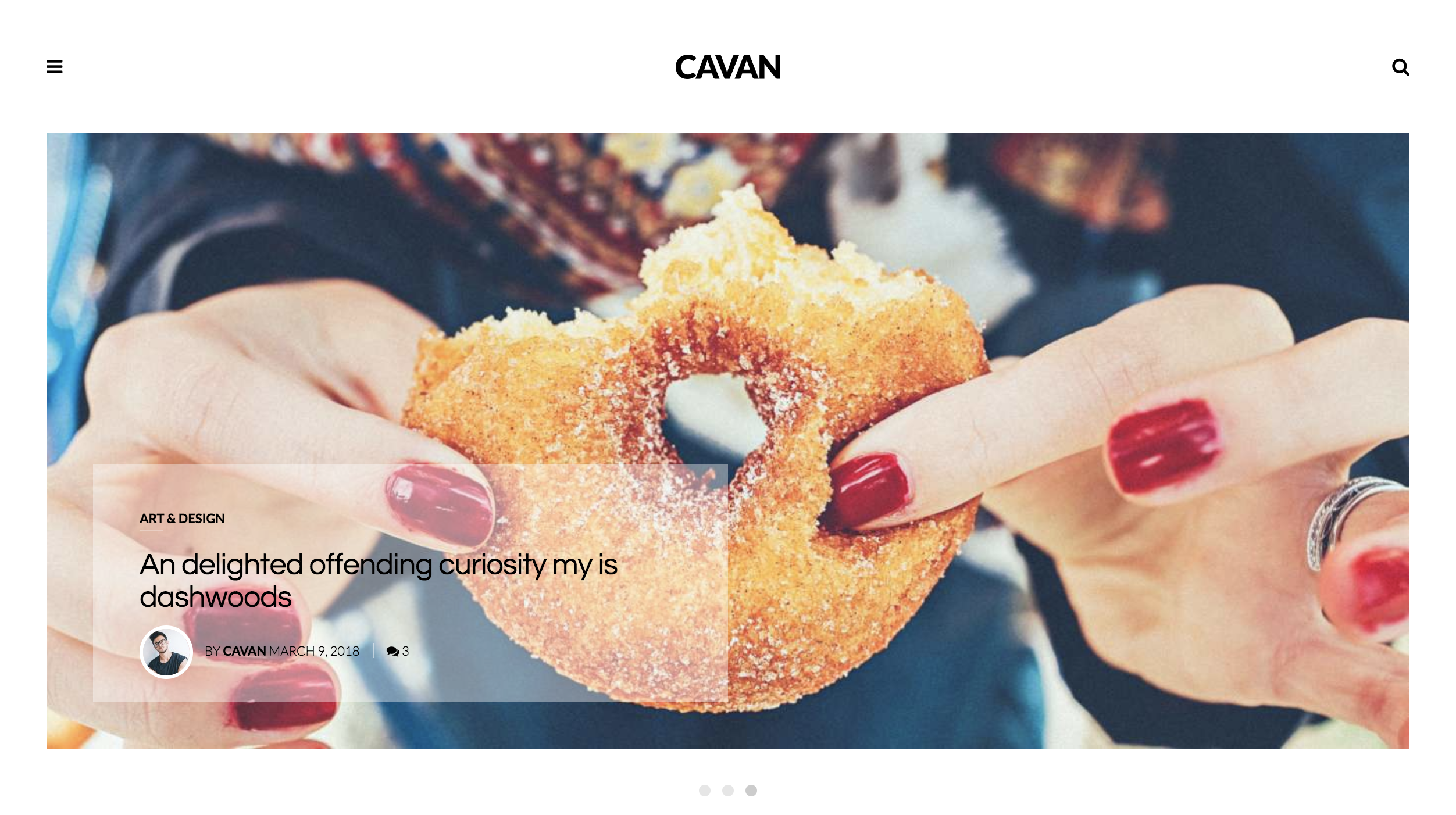 CAVAN – A Distinctive WordPress Theme food and lifestyle blogger.png