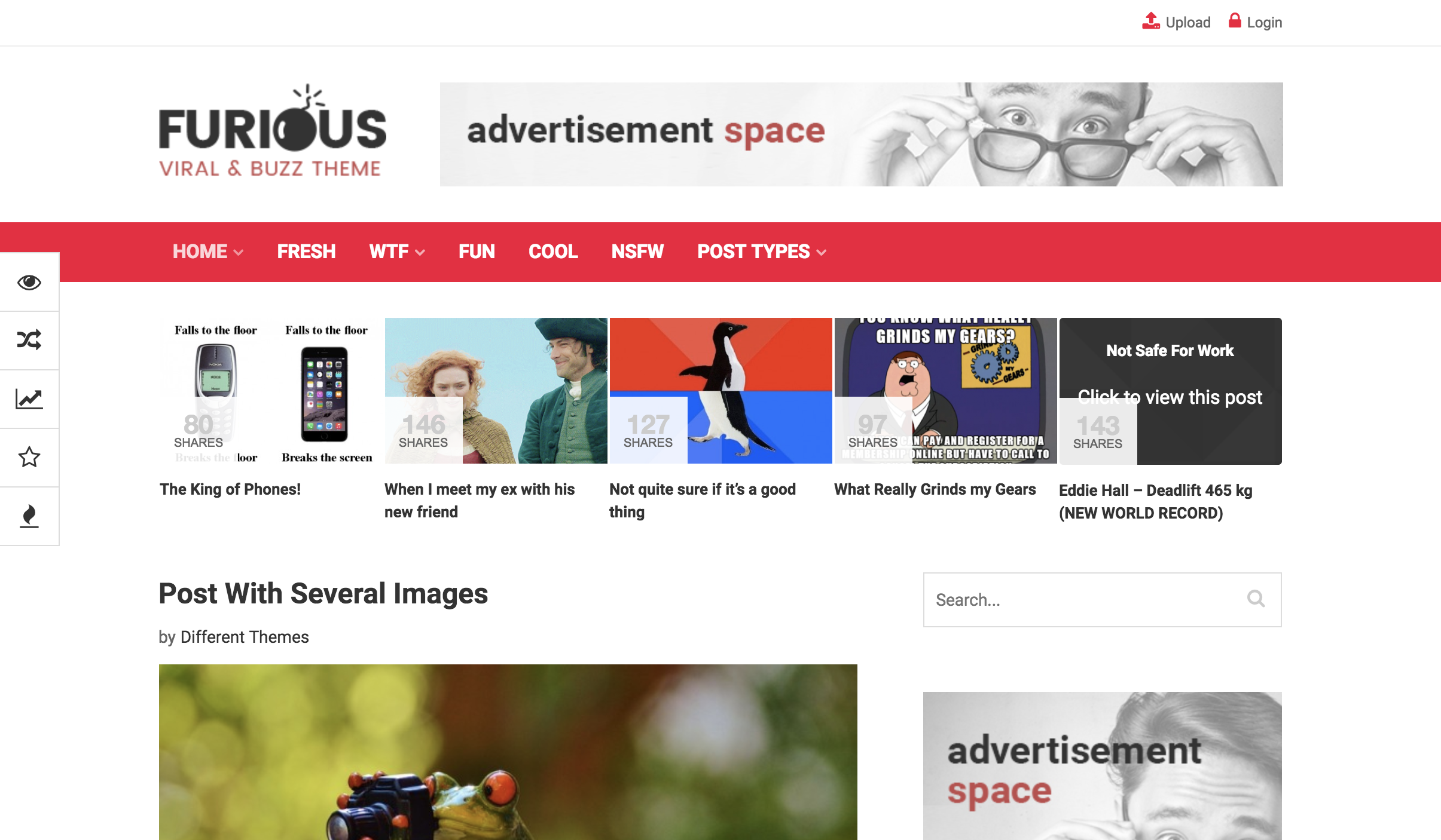 Furious - Viral & Buzz WordPress Theme