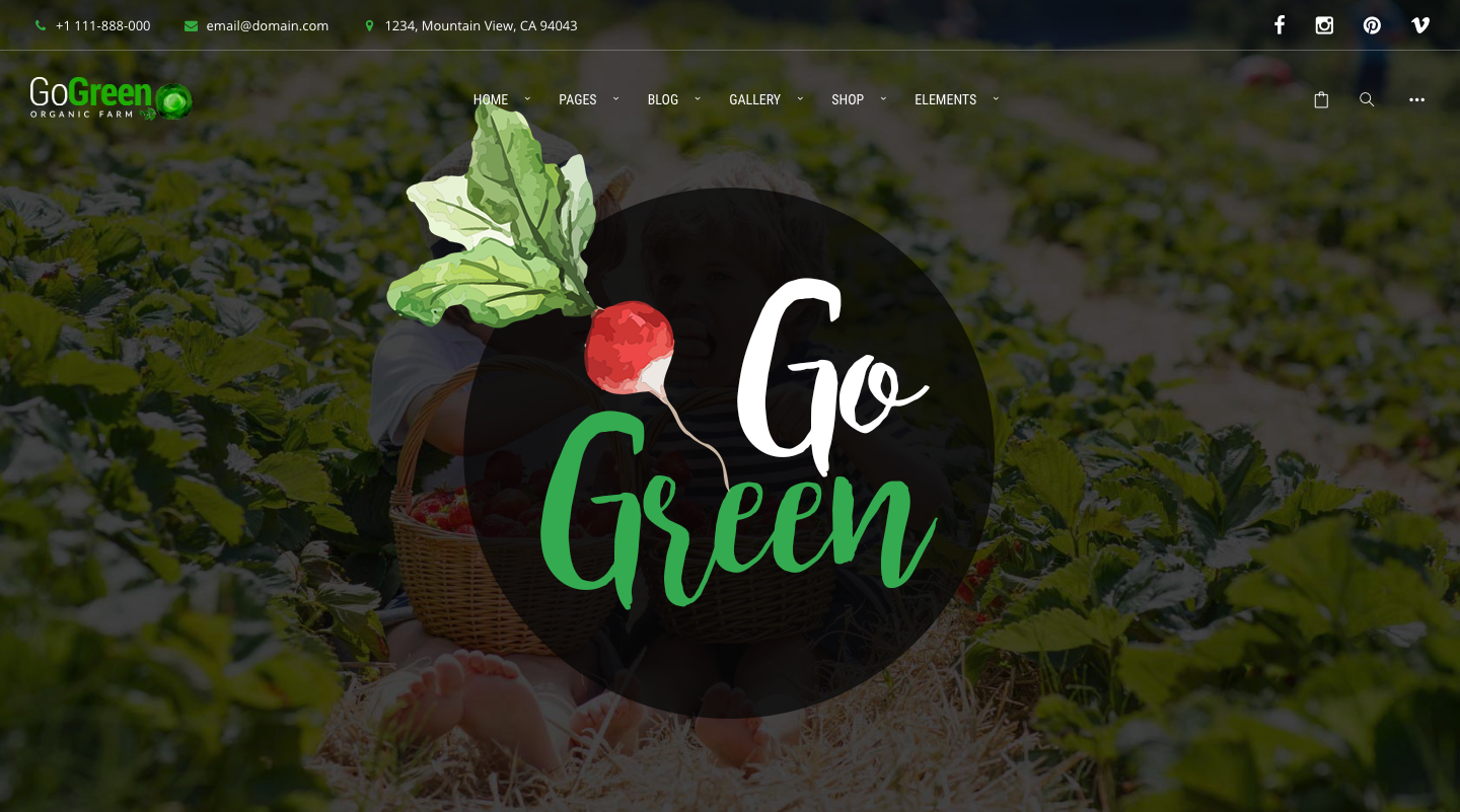 GoGreen Organic Food, Farm, Market Business WordPress Theme.png