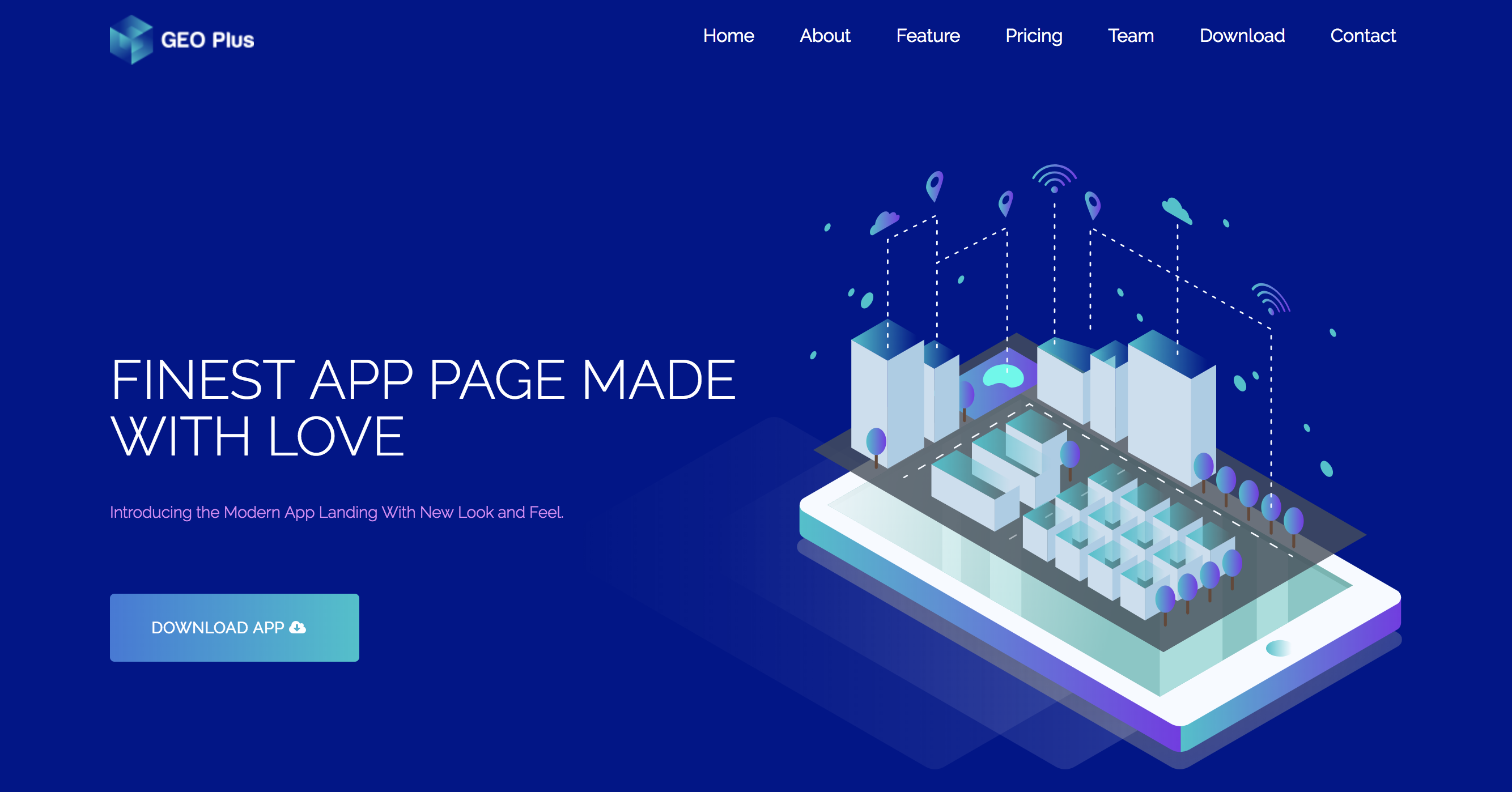 Home Isometric Blue – GEO PLUS App Landing Theme.png