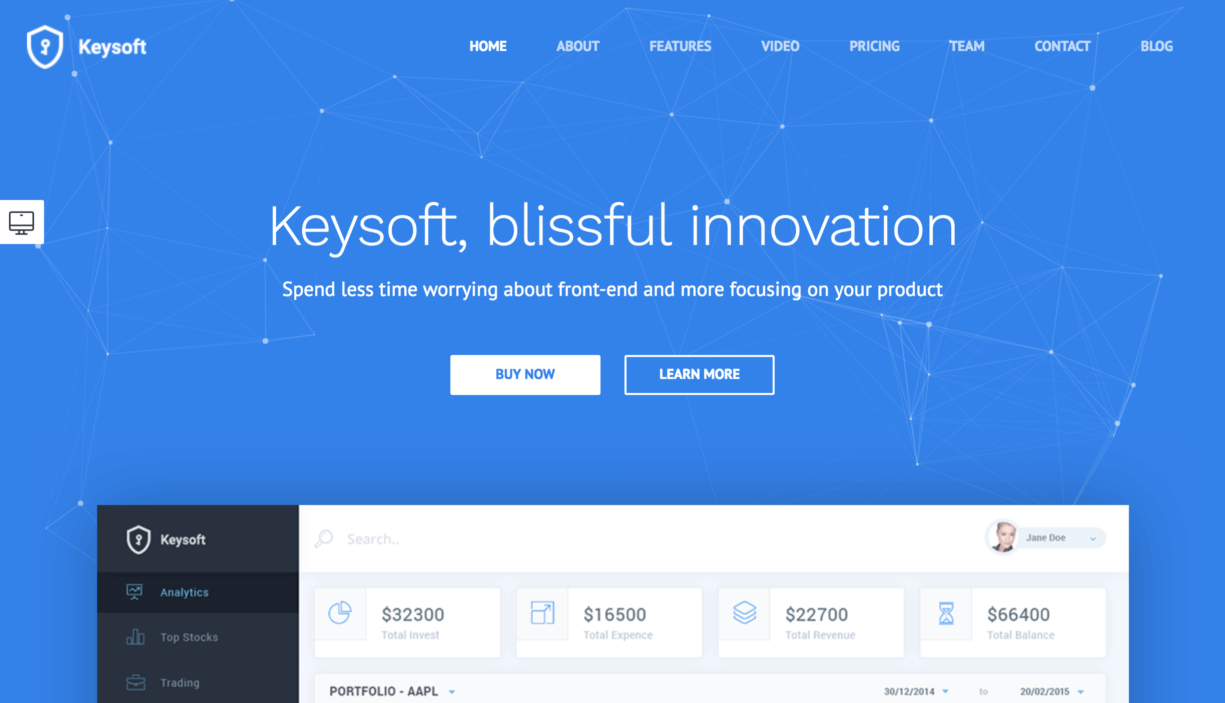 KeySoft - WordPress Software Landing Page.png