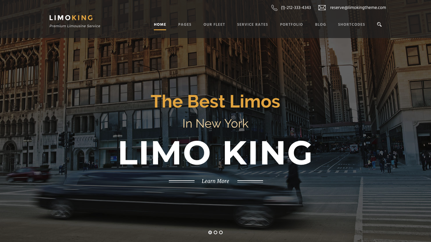 Limo King - Limousine : Transport : Car Hire Theme.png