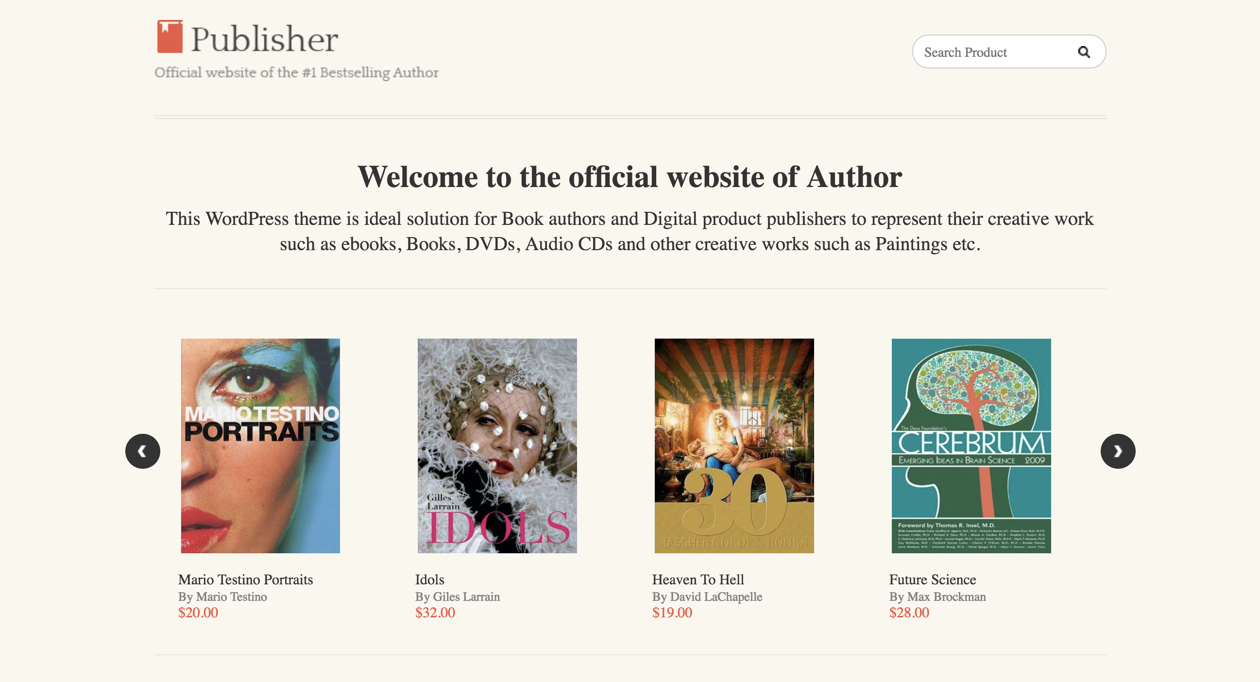 Publisher Showcase and sell your digital products The Theme For Authors, Book Writers And Publishers.png