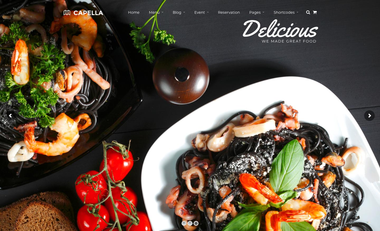 Restaurant WordPress | Capella for Restaurant.png