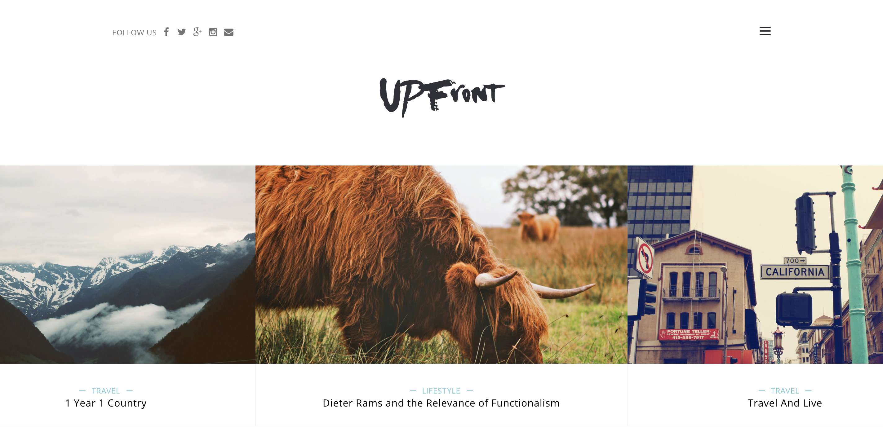UPFront Medium Minimal Light Magazine Blog Responsive WordPress Theme.png