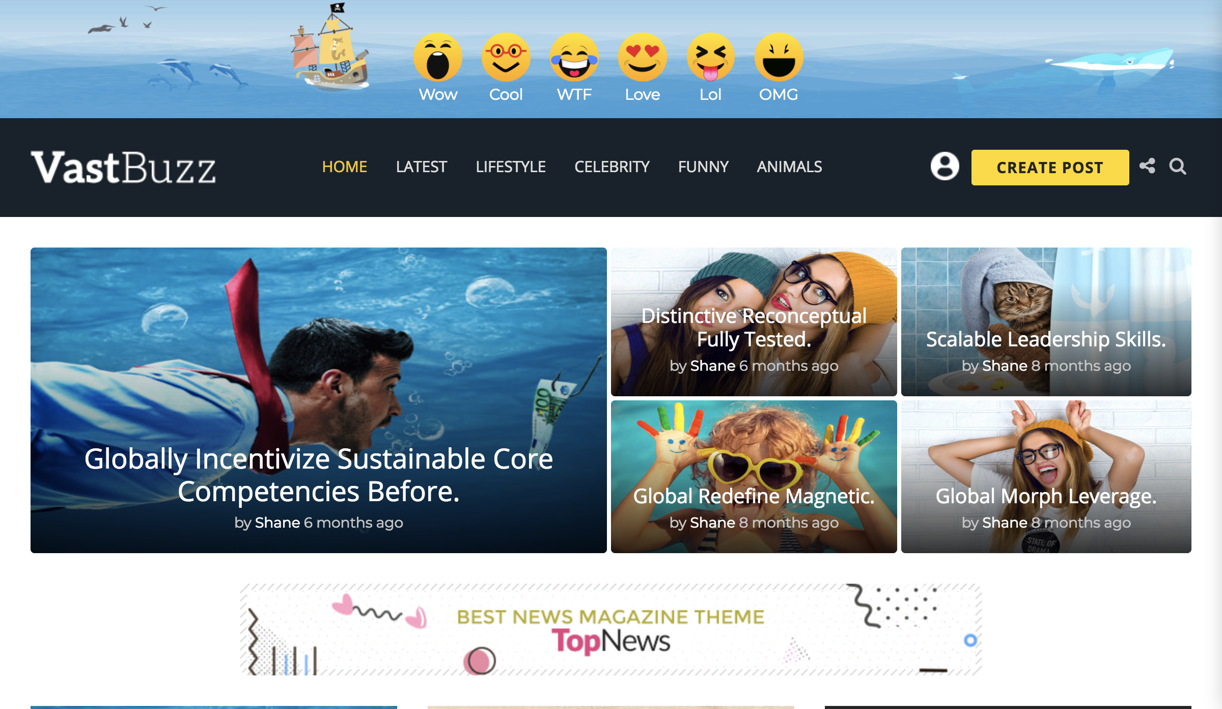 Vast Buzz - Viral & Buzz WordPress Theme