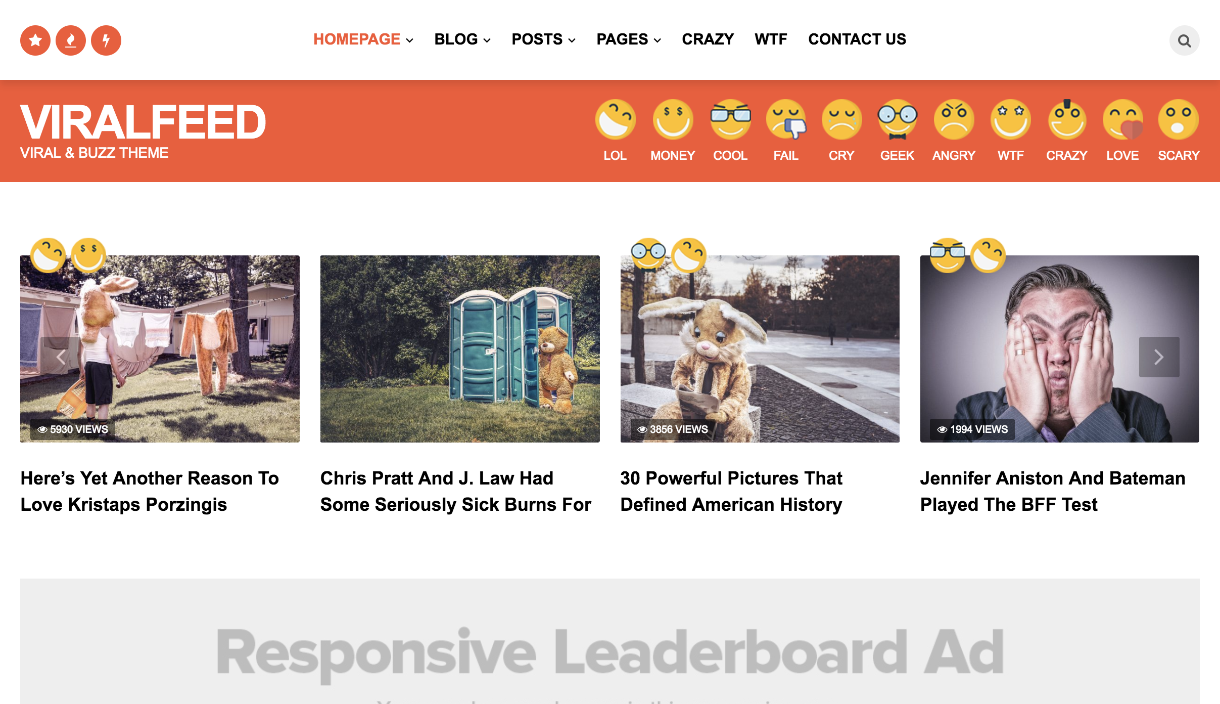 ViralFeed - Viral & Buzz WordPress Theme