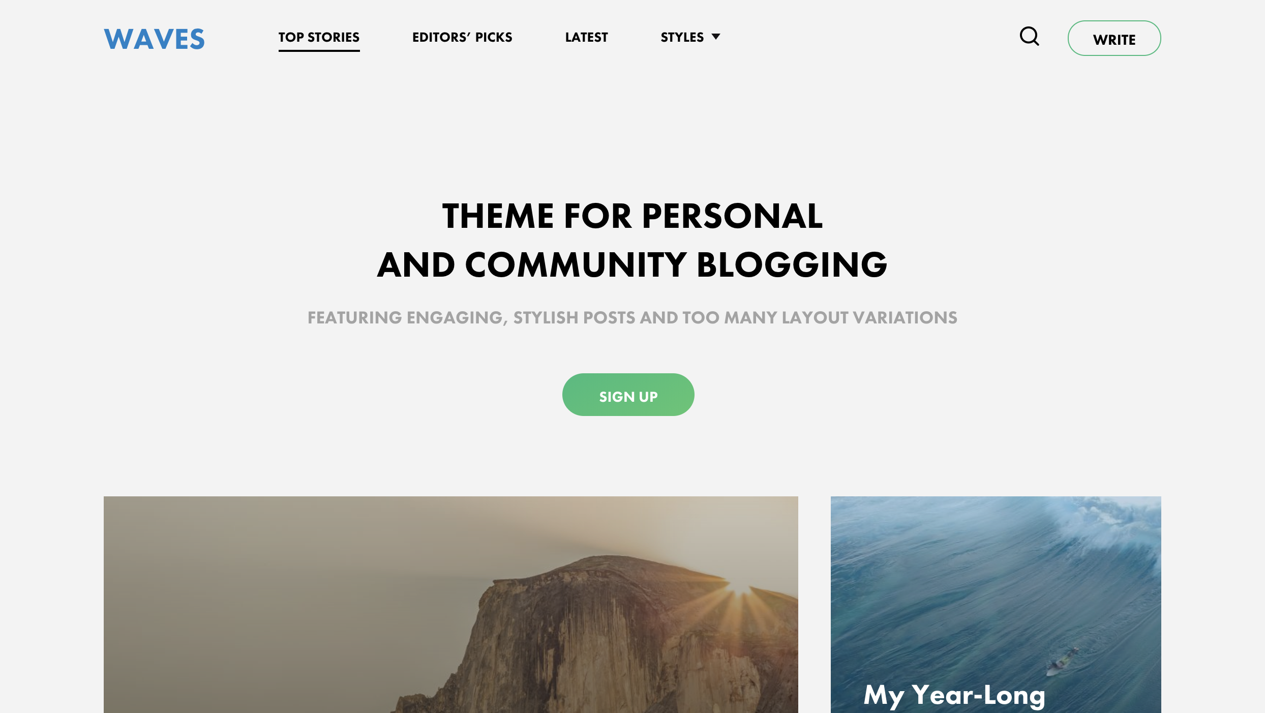 Waves - Personal and Community Blogging Theme.png