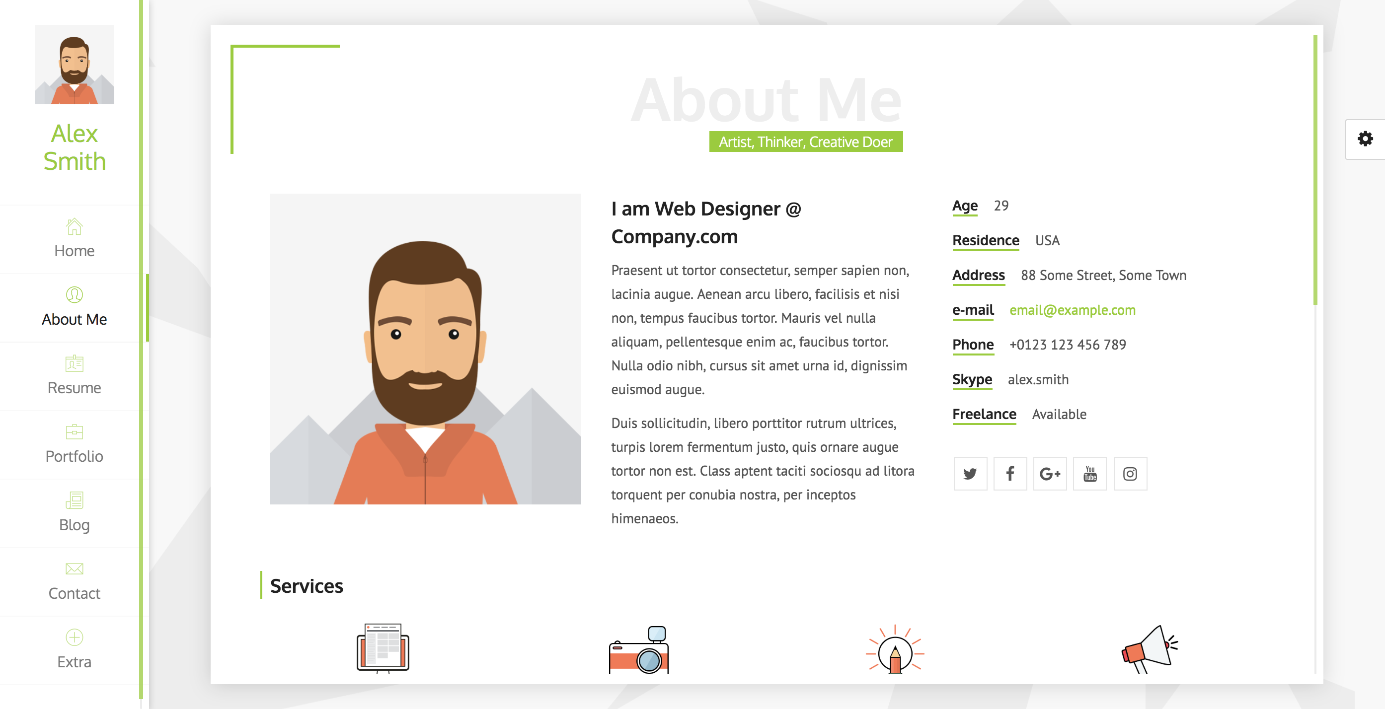 unique Resume, CV, vCard & Portfolio.png
